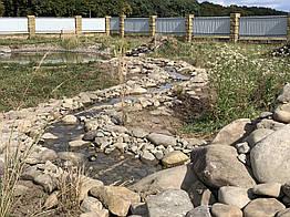 Искусственные ручьи, декоративный ручей с каскадами под ключ
