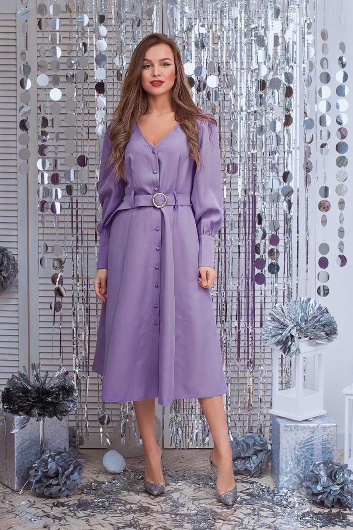 Платье женское миди на пуговиах
