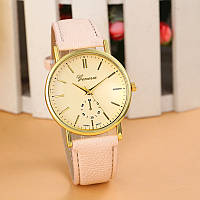 Женские часы Geneva Classic бежевые, фото 1