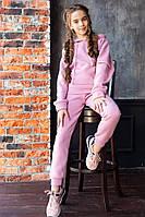 Стильный спортивный костюм для девочки на флисе