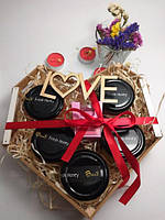 Подарочный набор №15 из 5ти баночек крем-меда с арома свечой классный подарок на 14 февраля