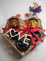 Подарочный набор №16 из 5ти баночек: крем-мед и мед с орешками супер подарок на 14 февраля