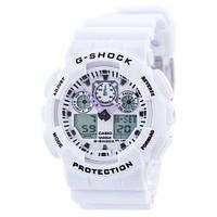 Наручные часы c пластиковым корпусом Casio GA-100 белые