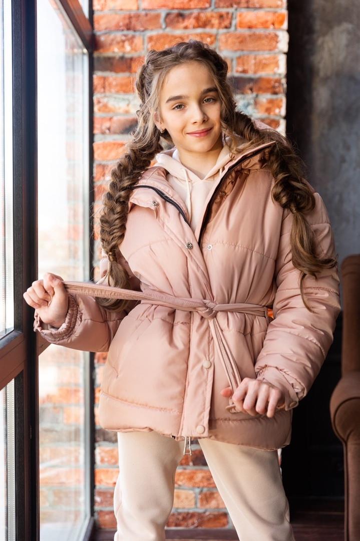 Зимова куртка для дівчинки на силіконі об'ємна