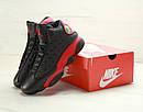 Мужские Кроссовки Nike Air Jordan 13 Black Red, фото 2