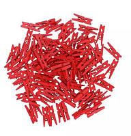 Прищепки декоративные мини красные