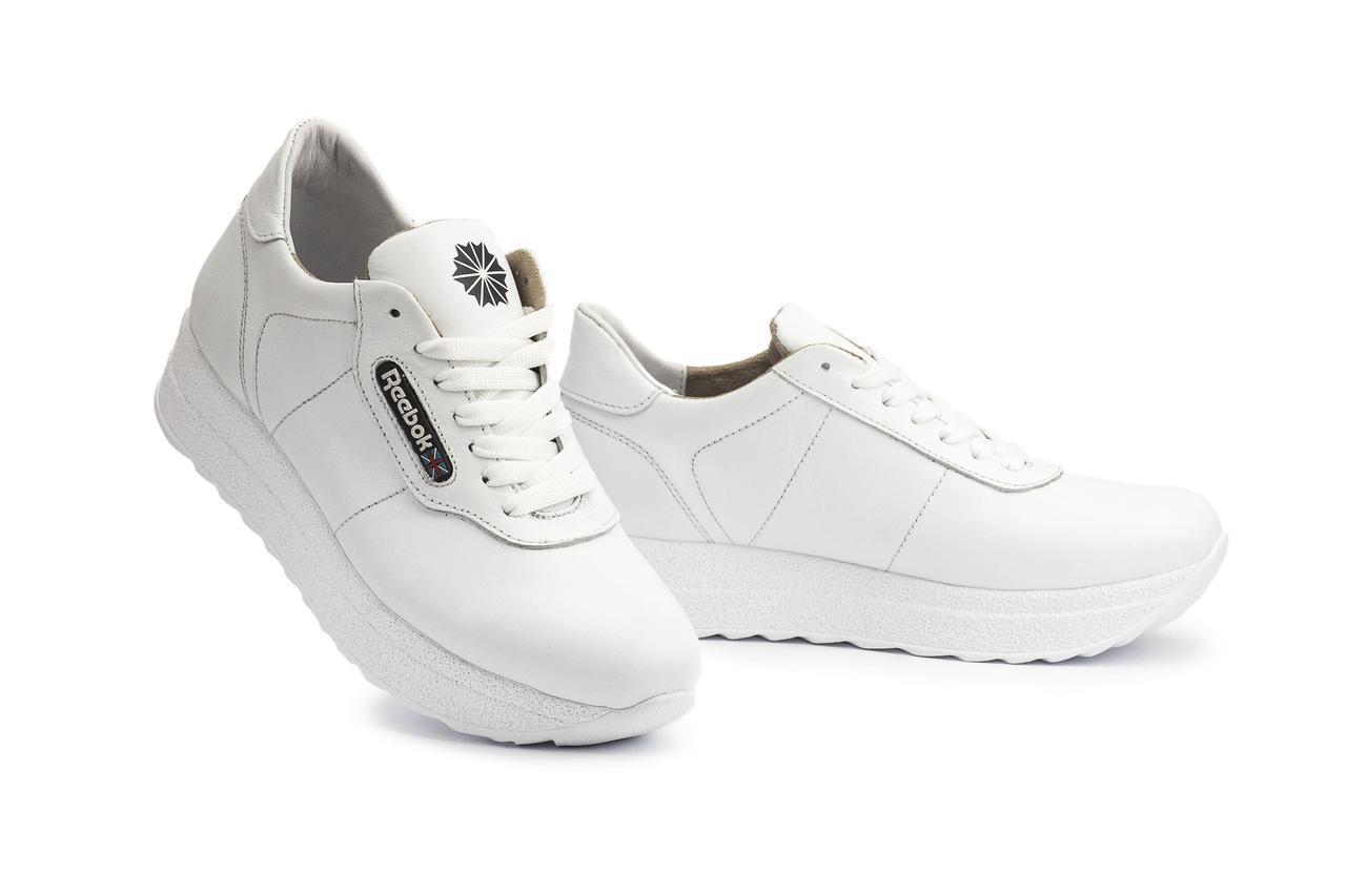 Женские кроссовки кожаные весна/осень белые Lions R20