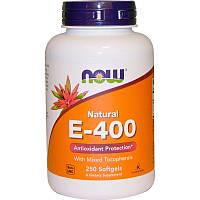 Витамин Е, E-400, Now Foods, 400, 250 капс.