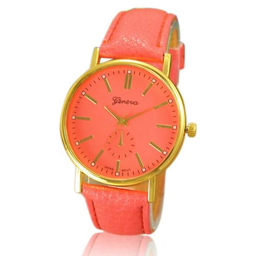 Женские часы Geneva Classic коралловые