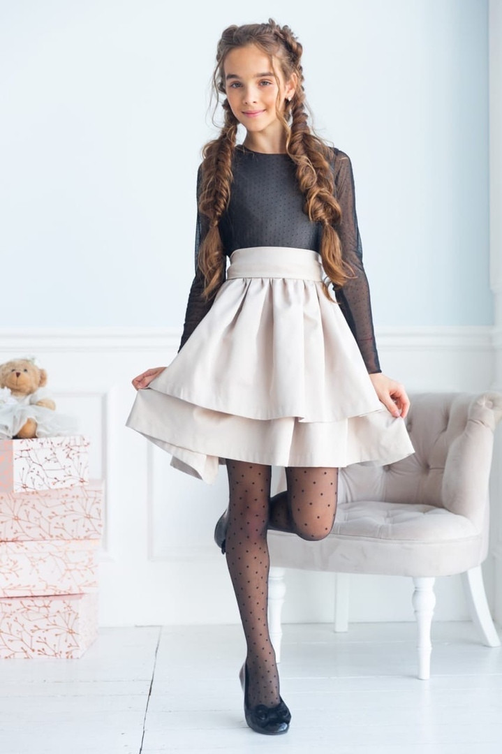 Платье для девочки нарядное открытая спина