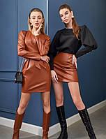 Женское кожаное платье. Женская одежда РАЗНЫЕ ЦВЕТА