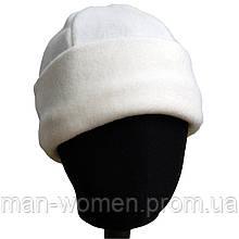 Маскировочная шапка из двойного плотного флиса - белая.