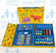 Набор для детского творчества Динозавр (68 предметов) чемодан