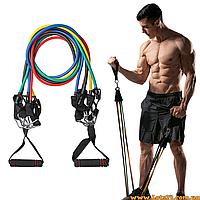 Резинки для фитнеса (набор резинок для тренировок, трубчатый эспандер лыжника)