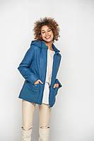 Яркая синяя куртка на прохладную погоду 46-58