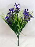"""Фиолетовый """"эстрагон 34см"""",зелень для искусственных букетов, фото 1"""