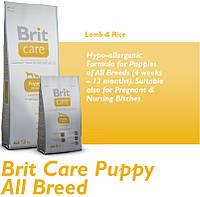 Корм для собак Brit Care Puppy All Breed Lamb & Rice 3 кг, брит для щенков всех пород
