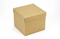 "Коробка ""Украина"" М0040-о5 крафт, размер: 150*150*130 мм, фото 1"