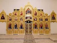 Резной Иконостас и киоты с золочением (Беларусь), фото 1