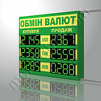 Табло обмен валют 1000х840 мм