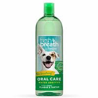 Добавка В Воду Tropiclean Fresh Breath Water Additive Original Для Гигиены Полости Рта Собак И Кошек, 473 Мл