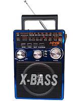 Портативная акустическая система встроенный аккумулятором и Фонарь FM Радиоприемник NNS NS-206U USB/SDCard/MP3