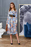 """Сногсшибательное платье отJadone Fashion """"Агата"""" шелковое с принтом (2 расцветки, р.S-XL), фото 2"""