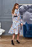 """Сногсшибательное платье отJadone Fashion """"Агата"""" шелковое с принтом (2 расцветки, р.S-XL), фото 4"""