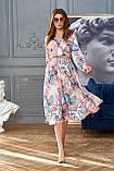 """Сногсшибательное платье отJadone Fashion """"Агата"""" шелковое с принтом (2 расцветки, р.S-XL), фото 5"""
