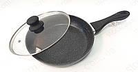 Сковорода Bohmann BH 1000-26 алюминиевая с мраморным покрытием, фото 1