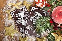 Новогодняя шоколадная открытка с логотипом. Шоколад с логотипом.