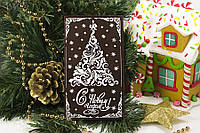 Новогодняя шоколадная открытка