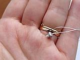 Золотое кольцо в виде короны с белыми камнями, фото 6