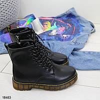 Жіночі демісезонні черевики чорні