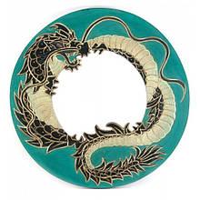 Зеленое зеркало мозаичное Дракон