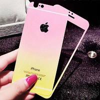 Защитное стекло (2in1) TG Premium Tempered Glass 0,26mm 2,5D для iPhone 6 Gradient Pink переднее + заднее