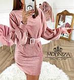 """Вельветовое женское платье с пояском """"Monica"""".Распродажа, фото 2"""