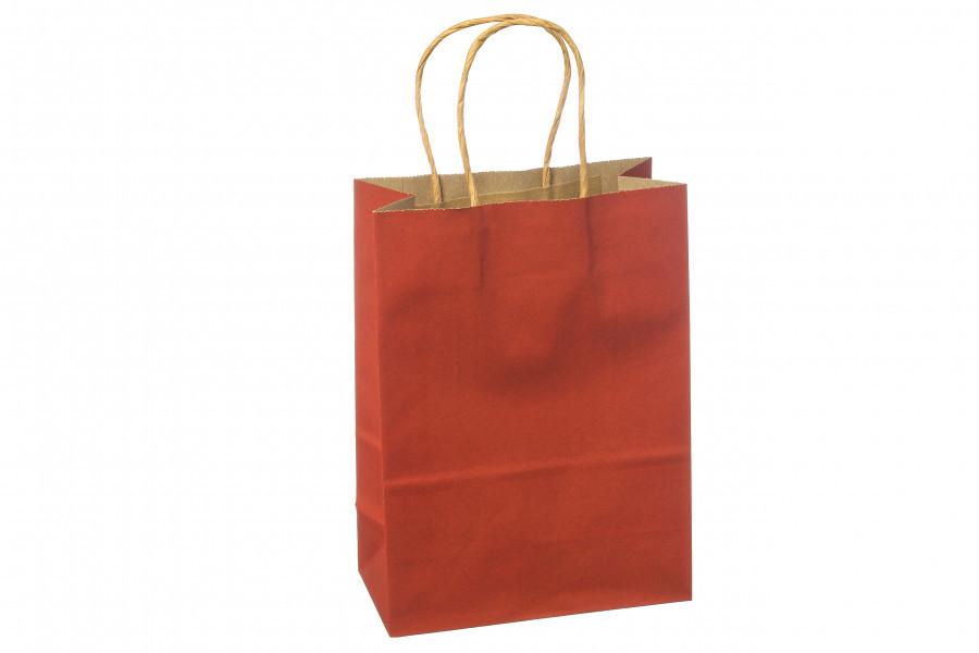 Подарочный пакет темно-красный 21*11*27 см 3-2216