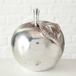 Декоративное яблоко/груша серебристый полимер h15см 6465500