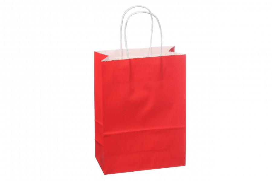 Подарочный пакет однотонный вертикальный (красный) 3-2131