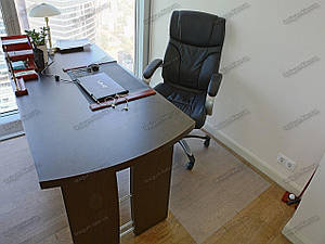 Ковер защитный под кресло 100х140см прозрачный 0,5мм, прямые углы