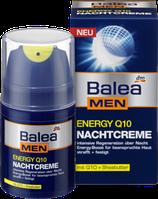Восстанавливающий ночной крем для лица Balea men Energy Q10, 50 мл.