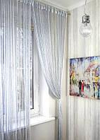 Кисея Радуга Дождь 1+7 ( белый + серебро )