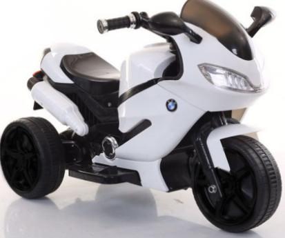 Детский мотоцикл с Ева колесами T-7225 белый