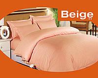 Комплект постельного белья 100% хлопок (сатин) цвет розовый, размер Евро