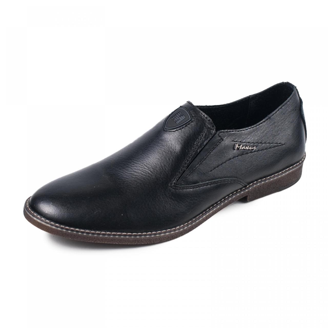 Чоловічі туфлі чорна натуральна шкіра р. 40 41 42 43 44 45
