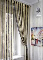 Нитяные шторы дождь радуга 13-14-204 ( шампань+беж+венге)