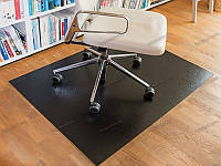 Ковер защитный под кресло 80х120см чёрный 0,5мм, прямые углы