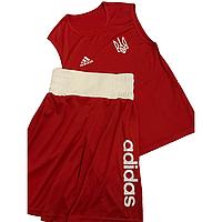 Боксерская форма Украина (майка+шорты) красная