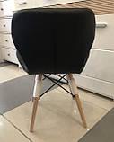 М'який стілець Старий чорний екокожа на дерев'яних ніжках СДМ група (безкоштовна доставка), фото 4